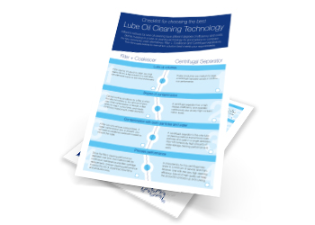 Checklist for choosing the best lube oil cleaning system
