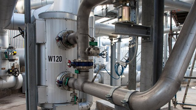 Duroshell heat exchanger in tar oil depot
