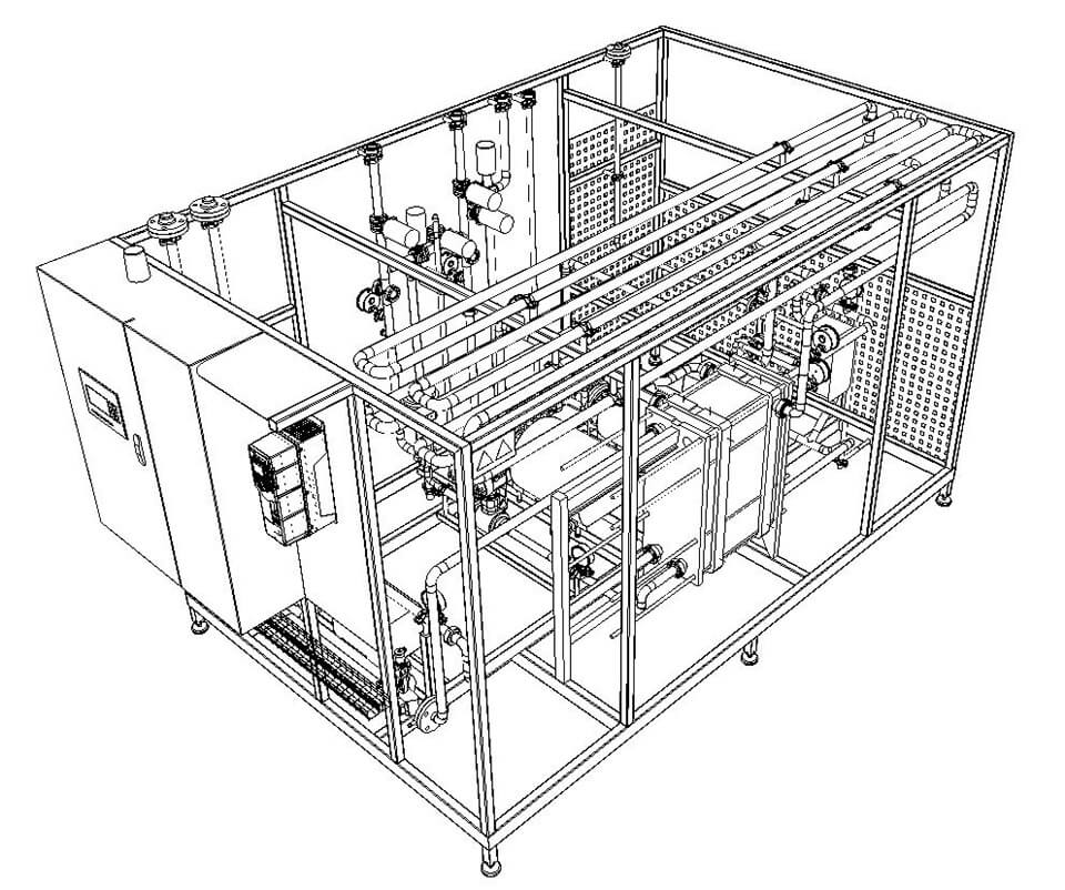 Flexitherm mini beer pasteurization wireframe