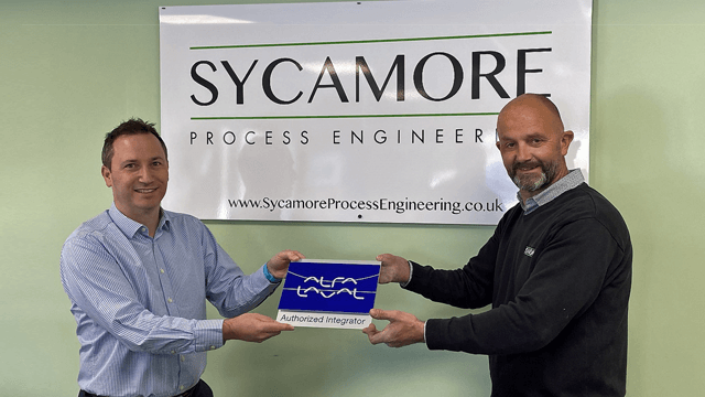 Ben Green, Food and Water Division Manager at Alfa Laval and Jerry Redman, Managing Director of Sycamore Process Engineering 640x360