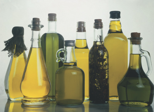 Olive oil glass bottles