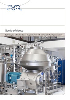Brochure about optimizing cell culture-based production by Alfa Laval Culturefuge separators