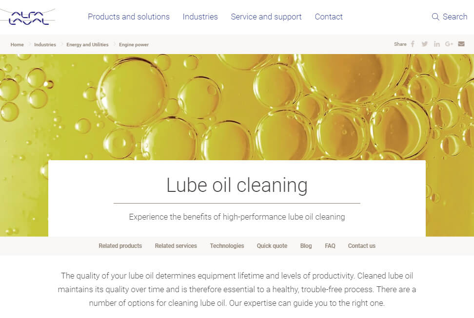 Lube oil website