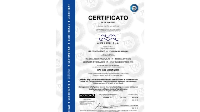 Certificate ISO55001 web