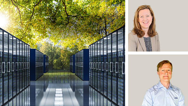 Sustainable data centers with efficient heat transfer