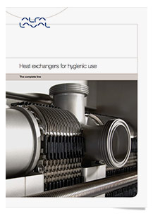 Alfa Laval brochures with hygienic equipment