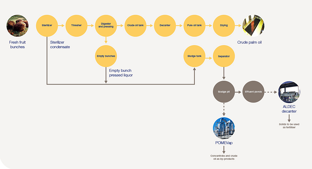 palm oil milling flow chart