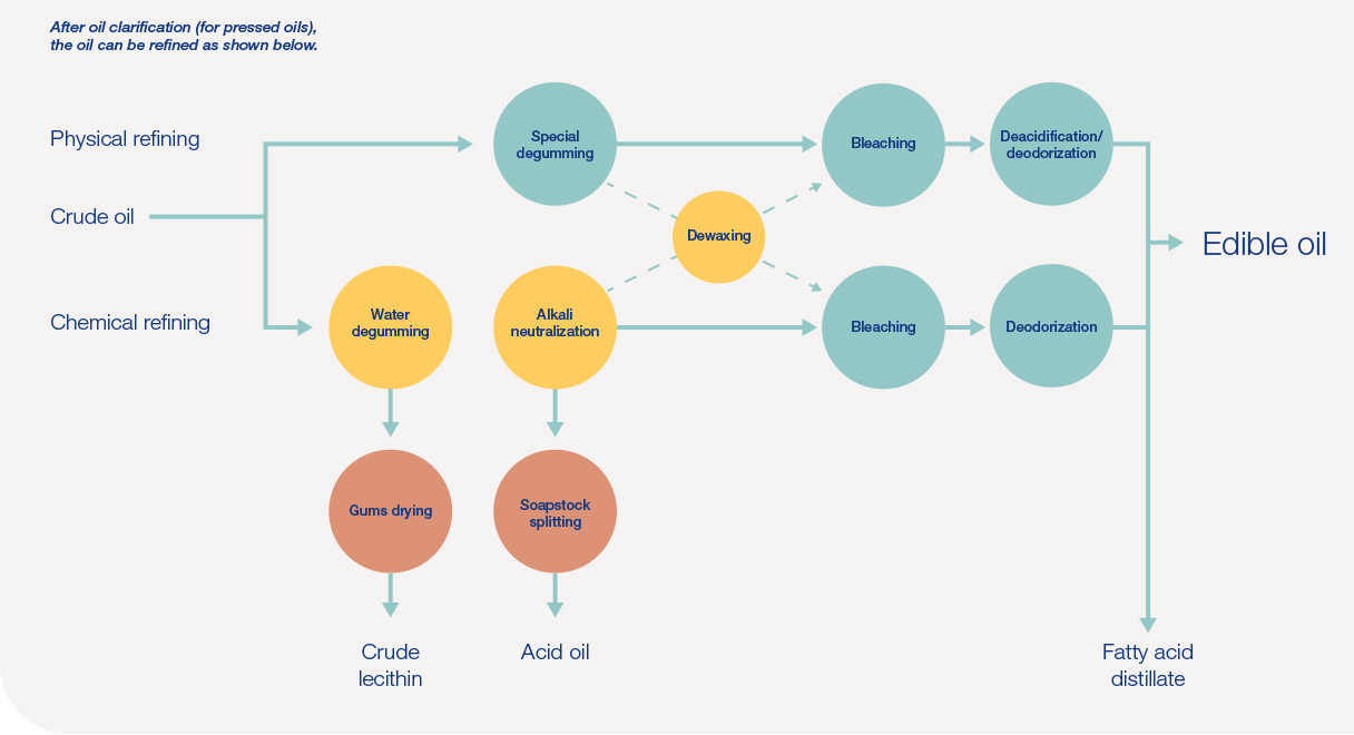 Seed oil production process flow chart