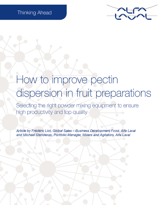 Whitepaper - Pecin dispersion