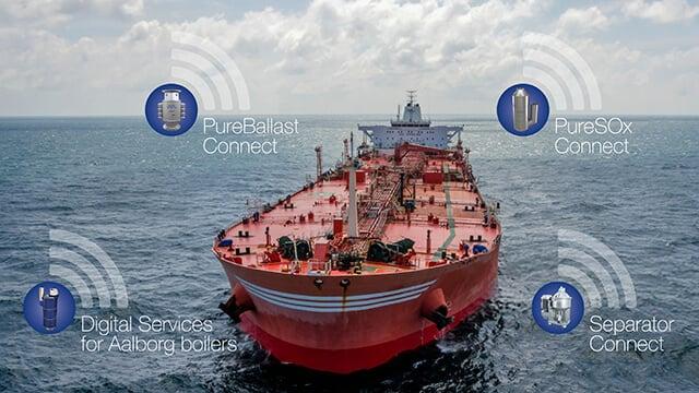 Digital services for Alfa Laval marine equipment