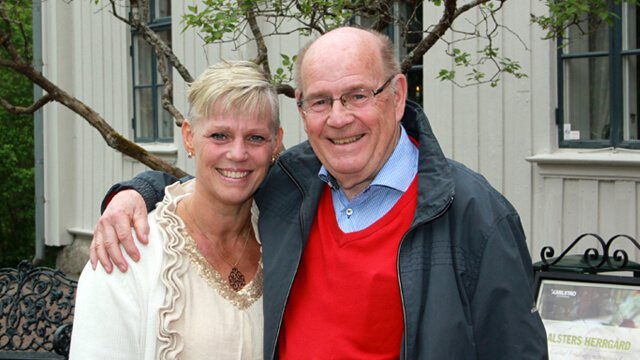 Caroline Carlsted and her father