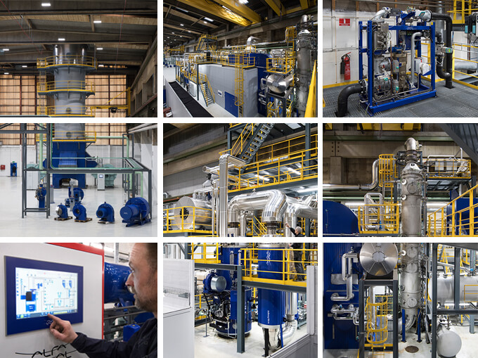 Alfa Laval Test and Training Centre collage