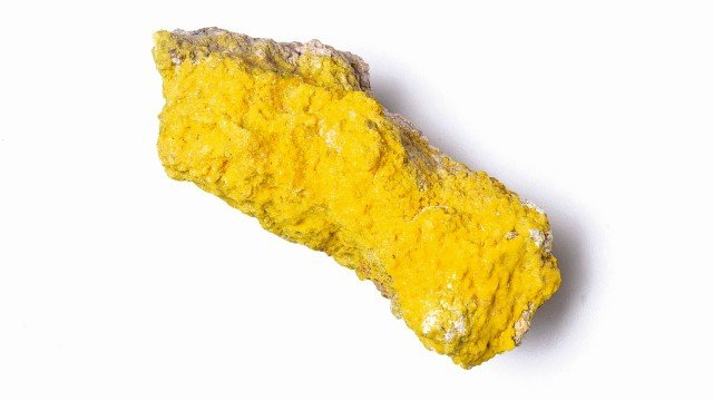 Yellow sulphur crystal