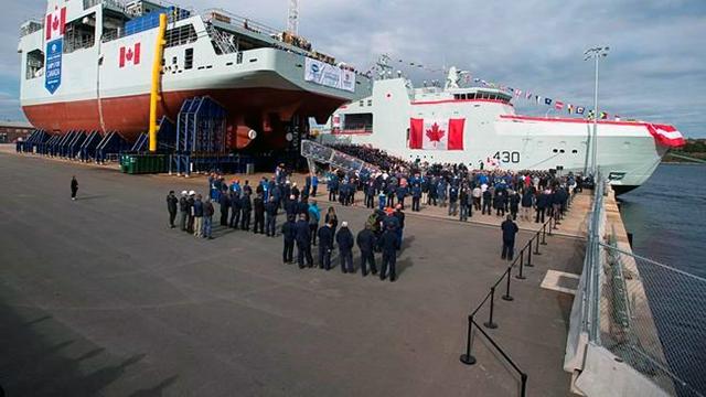 Canada lead Arctic Patrol Ship HMCS Harry DeWolf