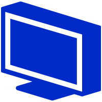 Condition monitoring icon blue