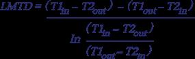 15 Střední logaritmický rozdíl teplot - Protiproudé zapojení - rovnice.png