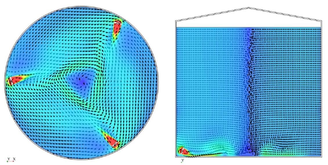 油脂储罐CFD模拟图