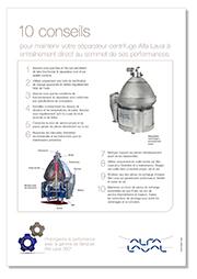 10 conseils de maintenance séparateurs centrifuges Alfa Laval