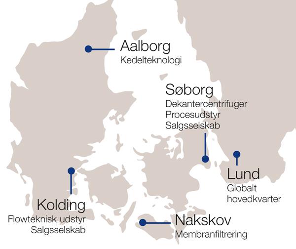 Alfa Laval selskaber i Danmark