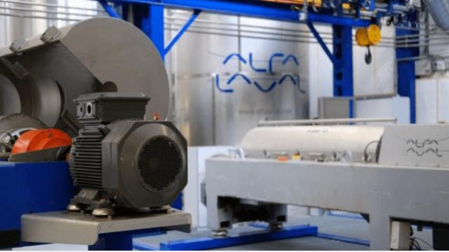 Mantenimiento de un decanter Alfa Laval en una planta industrial