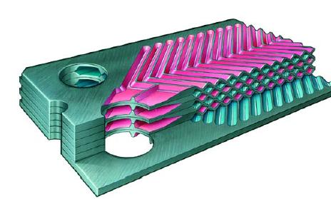 Tipo de intercambiador de calor de placas de grafito Diabon