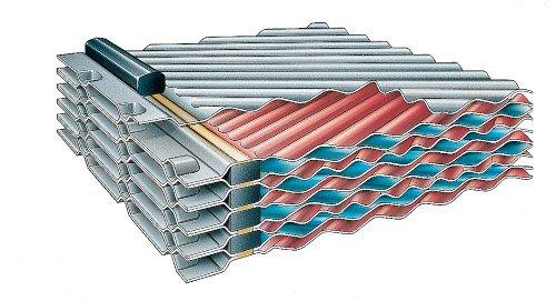 Placas de un Intercambiador de calor semisoldados