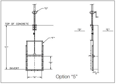 Slide gate Option 5