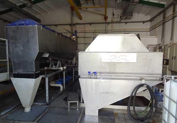 Alfa Laval ALDRUM drum thickener and Alfa Laval AS-H belt thickener