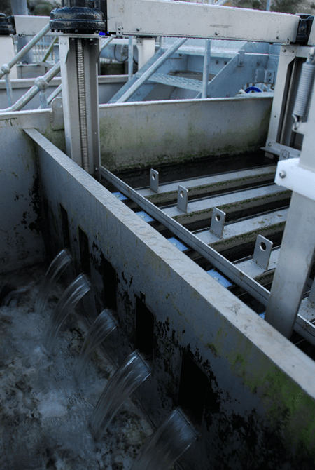 Alfa Laval AS-H Iso-Disc Cloth Media Filter for tertiary filtration at Scottish Water Fauldhouse wastewater treatment plant