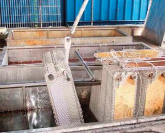 Kemisk rengöring av värmeväxlare
