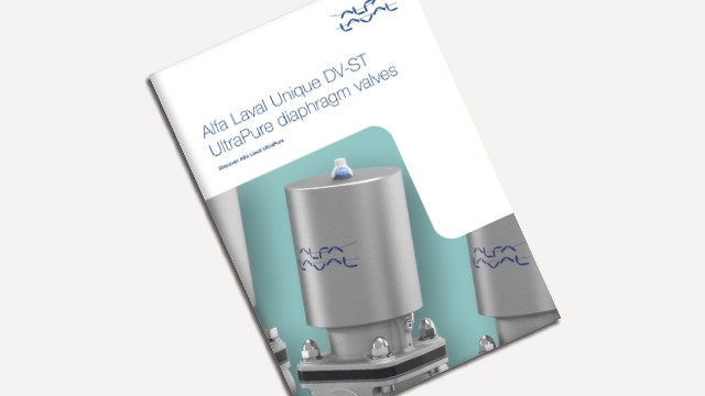 Alfa Laval Unique DV-ST UltraPure Diaphragm Valves brochure 640x360