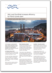 Alfa Laval DuroShell increases efficiency for French power plant