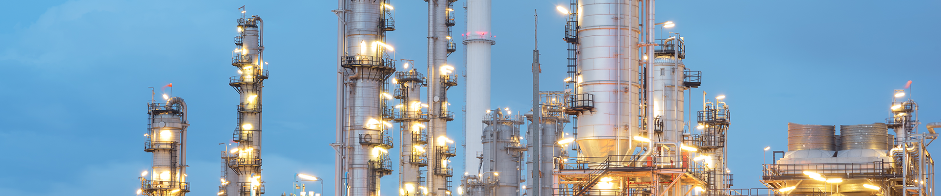 Petrochemical plant in morning light 1920x400