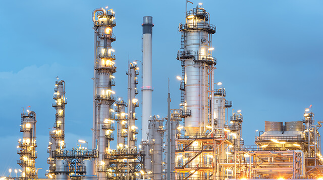 Petrochemical plant in morning light 640x360