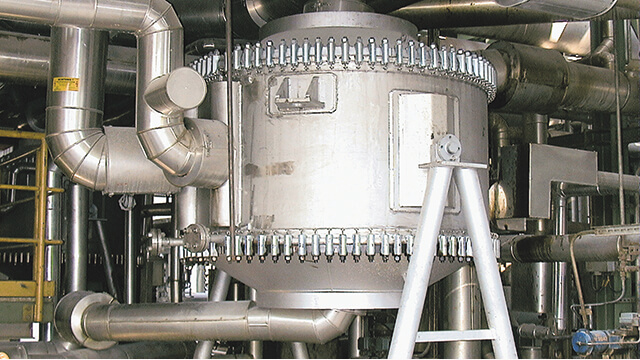 Installed Alfa Laval welded spiral heat exchanger at Mider refinery