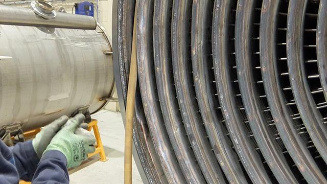 Alfa Laval welded spiral heat exchanger maintenance