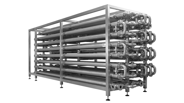 Tube in tube heat exchanger Module front 640x360