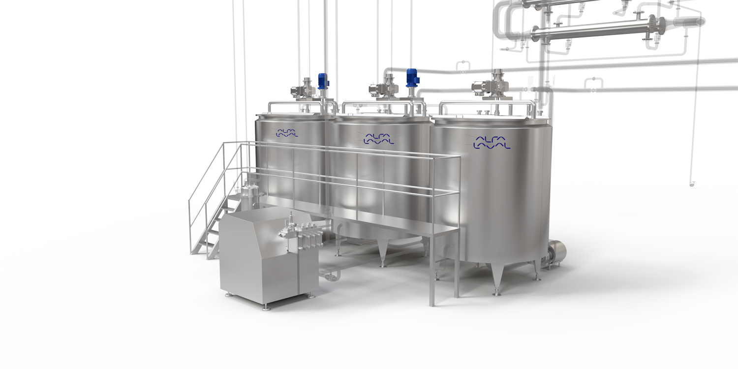 Alfa Laval margarine processing plants and equipment for Emulsion phase area