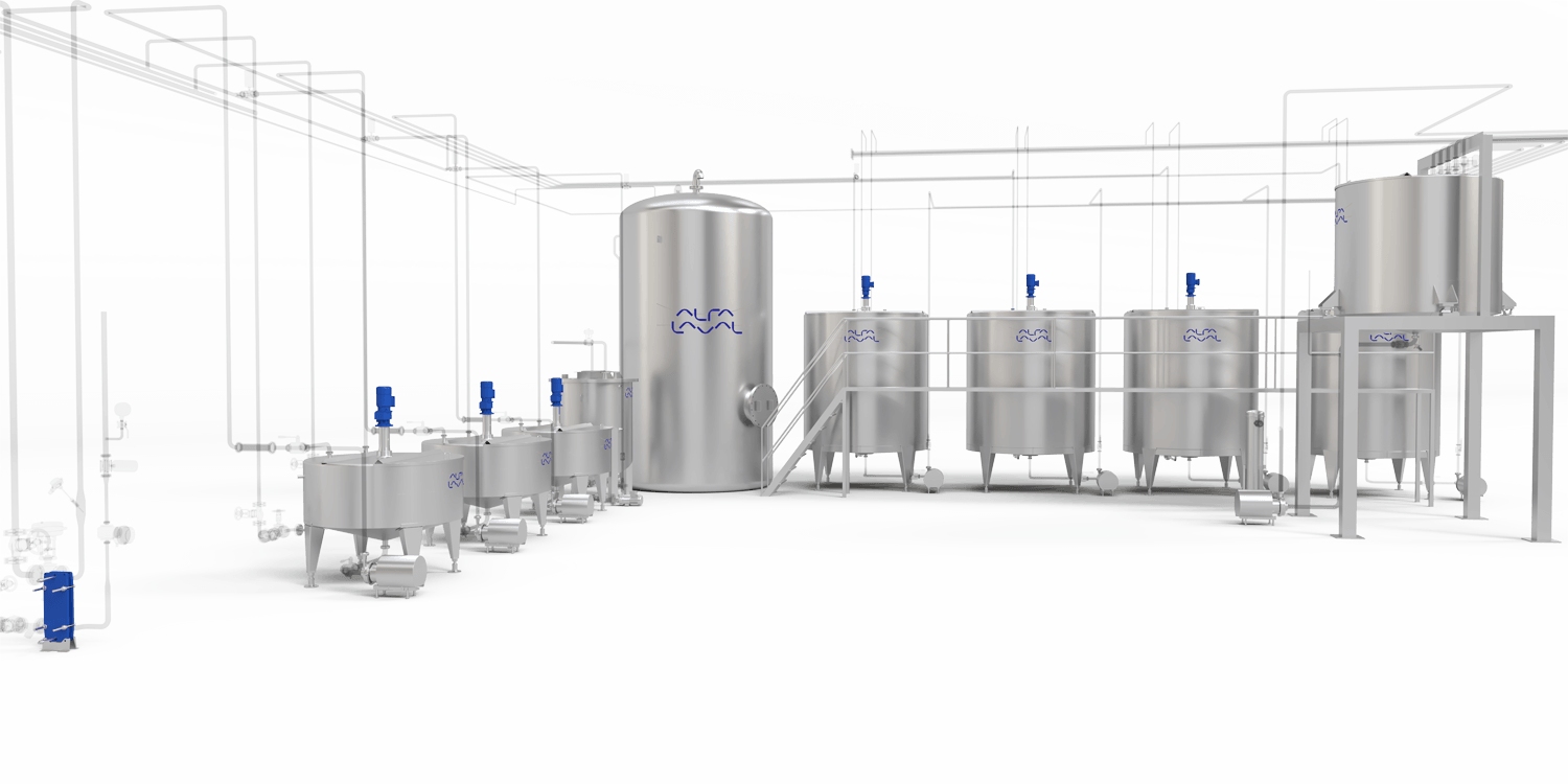 Alfa Laval margarine processing plants and equipment for Water phase area