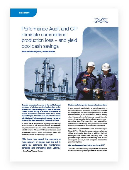 PHE service case story Performance audit CIP Saudi Arabia3